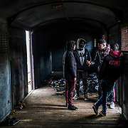 ORESTIADA, GREECE - FEBRUARY 29: Migrants who entered Greece earlier today from Turkey plan their next moves in an abandoned train at the Orestiada train station in Orestiada on Saturday, February 29, 2020. Turkey said it would no longer stop refugees from reaching Europe two days after the country suffered heavy losses during an attack in Syria.