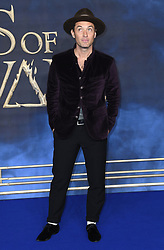 Jude Law attending the Fantastic Beasts: The Crimes of Grindelwald UK premiere held at Leicester Square, London. Photo credit should read: Doug Peters/EMPICS