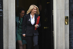 February 6, 2018 - London, England, United Kingdom - Work and Pensions Secretary Esther McVey leaves 10 Downing st after the weekly cabinet meeting on February 06, 2018 in London, England. (Credit Image: © Alberto Pezzali/NurPhoto via ZUMA Press)