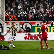 Fenerbahce's Dirk Kuijt (2ndL) during their Turkish superleague soccer match Besiktas between Fenerbahce at the BJK Inonu Stadium in Istanbul Turkey on Saturday, 03 March 2013. Photo by Aykut AKICI/TURKPIX