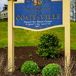 Coatesville, PA / USA - May 3, 2020: A Welcome to the City of Coatesville sign.