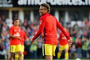 Neymar da Silva Santos Junior - Neymar Jr (PSG) at warm up during the French championship L1 football match between EA Guingamp v Paris Saint-Germain, on August 13, 2017 at the Roudourou stadium in Guingamp, France - Photo Stephane Allaman / ProSportsImages / DPPI