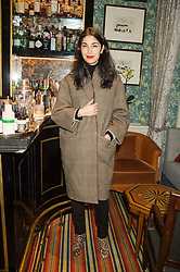 CAROLINE ISSA at a cocktail reception hosted by the Woolmark Company, Pierre Lagrange and the Savile Row Bespoke Association to celebrate 'The Ambassador's Project' for London Collections Mens at Marks Club, Charles street, London on 8th January 2016.