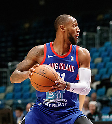 November 19, 2017 - Reno, Nevada, U.S - Long Island Nets Forward KAMARI MURPHY (21) during the NBA G-League Basketball game between the Reno Bighorns and the Long Island Nets at the Reno Events Center in Reno, Nevada. (Credit Image: © Jeff Mulvihill via ZUMA Wire)