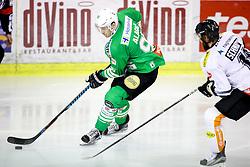 Adis Alagic of Olimpija during ice hockey match between HDD Olimpija Ljubljana and Dornbirner EC in Erstebank league season 2016/17, on October 24, 2016 in Hala Tivoli, Ljubljana, Slovenia. Photo by Morgan Kristan / Sportida