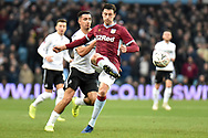 Aston Villa defender Tommy Elphick (24) clears his lines during the The FA Cup 3rd round match between Aston Villa and Swansea City at Villa Park, Birmingham, England on 5 January 2019.