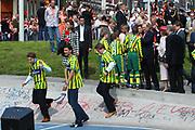 On Queensday, april 30th the Queen attends the celebrations of Queensday in Scheveningen near the Hague.<br /> This is her 25th jubilee.<br /> <br /> Op Koninginnedag, 30 april, is de Koningin  's Middags aanwezig metn en haar familie het koninginnedagfeest mee te vierten in Scheveningen.<br /> <br /> On The photo / On the Photo;<br /> <br /> Prince Floris en Prince Pieter-Christiaan in shirts of Ado den Haag to play soccer<br /> <br /> Prins Floris en Prins Pieter-Christiaan in shirts van Ado den Haag voor een spelletje voetbal