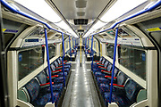 Most of London underground stations are seen nearly empty with many of them closed in an attempt to reduce the spread of coronavirus. Wednesday, April 8, 2020. (Photo/Vudi Xhymshiti)