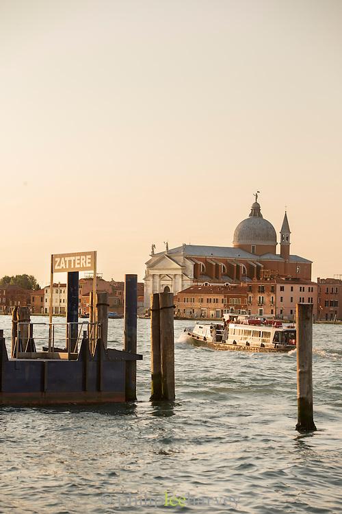 District of Giudecca seen from Fondameta Zattere Allo Spirito Santo. Venice, Italy, Europe
