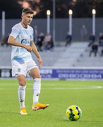 Frederik Juul Christensen (FC Helsingør) under kampen i 1. Division mellem FC Helsingør og Vendsyssel FF den 18. september 2020 på Helsingør Stadion (Foto: Claus Birch).