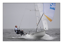 470 Class European Championships Largs - Day 2.Wet and Windy Racing in grey conditions on the Clyde...GER72, Annika BOCHMANN, Elisabeth PANUSCHKA, Verein Seglerhaus Am Wannsee ...