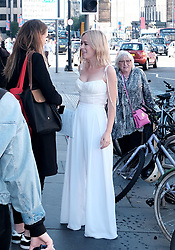 Edinburgh International Film Festival 2019<br /> <br /> Hurt By Paradise (World Premiere)<br /> <br /> Stars and guests arrive on the red carpet for the world premiere<br /> <br /> Pictured: Tanya Burr and Veronica Clifford (with walking stick and pink handbag)<br /> <br /> Alex Todd   Edinburgh Elite media