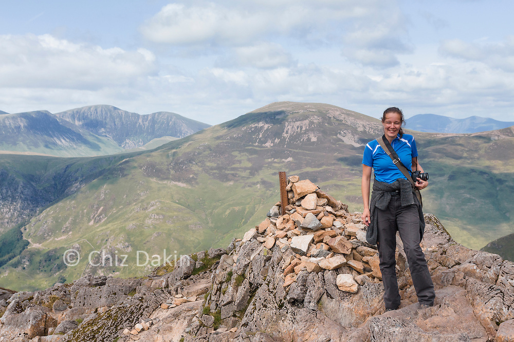 """Cindy Vriend on the """"popular"""" summit of Haystacks which is actually 2m lower than the true summit (but has better views!)"""