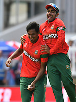 Cricket - 2019 ICC Cricket World Cup - Group Stage: Pakistan vs. Bangladesh<br /> <br /> Mustafizur Rahman celebrates the dismissal of  Shadab Khan<br /> at Lord's<br /> <br />  colorsport/winston bynorth