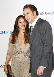 © Licensed to London News Pictures. Vanessa Hudgens and Nicolas Cage, The Frozen Ground UK Film Premiere, Vue West End cinema Leicester Square, London UK, 17 July 2013, Photo credit: Richard Goldschmidt/LNP