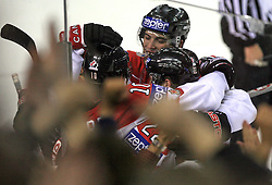Team Canada celebrates at ice-hockey game Canada vs Finland at Qualifying round Group F of IIHF WC 2008 in Halifax, on May 12, 2008 in Metro Center, Halifax, Nova Scotia, Canada. Canada won 6:3. (Photo by Vid Ponikvar / Sportal Images)