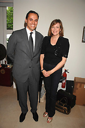 ANTOINE PIN CEO of LVMH Watch & Jewellery and the COUNTESS OF WOOLTON at an evening with racing driver Lewis Hamilton held at The Hempel Hotel, 31-35 Craven Hill Gardens, London W2 on 4th July 2007.<br /><br />NON EXCLUSIVE - WORLD RIGHTS