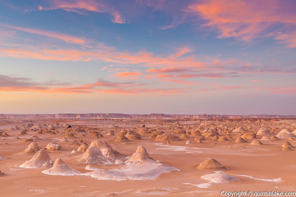 """Sunset abovet El-Khiyam """"The Tents"""",  Sahara Beida (White Desert), Egypt"""