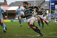 Photo: Rich Eaton.<br /> <br /> Leicester Tigers v Cardiff Blues. Heineken Cup. 13/01/2007.  Dan Hipkiss scores the second try of the game for Leicester Tigers