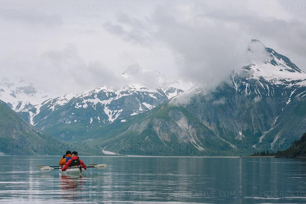 Kayakers in the West Arm of Alaska's Glacier Bay National Park. Photo © Robert Zaleski / rzcreative.com