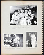page from a photo album with wedding celebration USA 1946