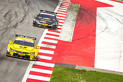 03.08.2014, Red Bull Ring, Spielberg, AUT, DTM Red Bull Ring, Renntag, im Bild Pascal Wehrlein, (GER, gooix Mercedes AMG C-Coupe), Timo Glock, (GER, 3. Platz, Rennen, Deutsche Post BMW M4 DTM) // during the DTM Championships 2014 at the Red Bull Ring in Spielberg, Austria, 2014/08/03, EXPA Pictures © 2014, PhotoCredit: EXPA/ M.Kuhnke