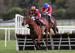 Minella Indo ridden by Rachael Blackmore clears the last on the way to winning the Irish Daily Mirror Novice Hurdle during day two of the Punchestown Festival at Punchestown Racecourse, County Kildare, Ireland.