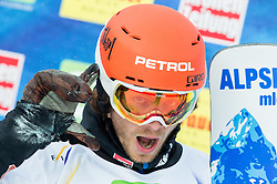 Zan Kosir of Slovenia after the during Semi Finals of the Men's Parallel Giant Slalom at FIS World Championships of Snowboard and Freestyle 2015, on January 23, 2015 at the WM Piste in Lachtal, Austria. Photo by Vid Ponikvar / Sportida