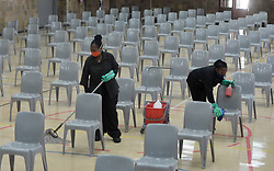 South Africa - Coronavirus - Pretoria - 26 May 2020 - St Mary's Diocesan School clean up and sanitize their premises as per strict hygiene regulations.<br /> Picture: Oupa Mokoena/African News Agency (ANA)