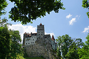 Romania, Bran a Medieval castle on a cliff in Transylvania