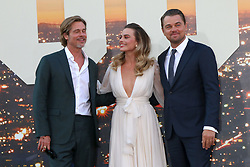 July 22, 2019 - Los Angeles, CA, USA - LOS ANGELES - JUL 22:  Brad Pitt, Margot Robbie, Leonardo DiCaprio at the ''Once Upon a Time in Hollywood'' Premiere at the TCL Chinese Theater IMAX on July 22, 2019 in Los Angeles, CA (Credit Image: © Kay Blake/ZUMA Wire)