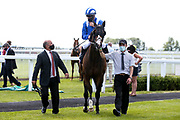 Motagally ridden by Jim Crowley trained by Charles Hills wins the Bath.co.uk Handicap - Mandatory by-line: Robbie Stephenson/JMP - 22/07/2020 - HORSE RACING - Bath Racecoure - Bath, England - Bath Races