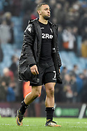 Leeds United midfielder Kemar Roofe (7)  disappointed after the full time whistle during the EFL Sky Bet Championship match between Aston Villa and Leeds United at Villa Park, Birmingham, England on 13 April 2018. Picture by Alan Franklin.