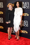 April 1, 2016- Newark, NJ: United States- (L-R) Debra Lee, President & CEO, BET Networks and Actress/Producer  Tracee Ellis Ross attends the 2016 Black Girls Rock Red Carpet Arrivals held at NJPAC on April 1, 2016 in Newark, New Jersey. Black Girls Rock! is an annual award show, founded by DJ Beverly Bond, that honors and promotes women of color in different fields involving music, entertainment, medicine, entrepreneurship and visionary aspects.   (Terrence Jennings/terrencejennings.com)