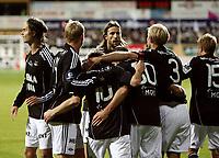 Fotball <br /> Tippeligaen<br /> AKA Arena , Hønefoss <br /> 17.10.2010<br /> Hønefoss BK  v Rosenborg 0-2<br /> Foto: Dagfinn Limoseth, Digitalsport<br /> Mattias Bjärsmyr  , Rosenborg