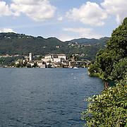 Isola San Giulio vista da Orta..San Giulio island seen from Orta