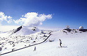 Skiing, Mauna Kea, Island of Hawaii, Hawaii, USA<br />