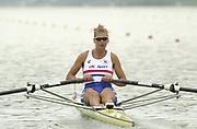 Seville, Andulucia, SPAIN<br /> <br /> 2002 World Rowing Championships - Seville - Spain Sunday 15/09/2002<br /> <br /> GBR W1X Elise Laverick<br /> <br /> [Mandatory Credit:Peter SPURRIER/Intersport Images]