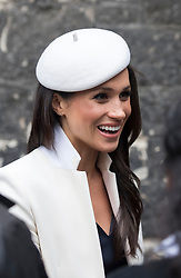 Meghan Markle after attending the Commonwealth Service at Westminster Abbey, London.