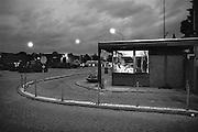 Nederland, Njimegen 1-5-1988Portiersloge  bij ingang bedrijfsterrein. Foto: Flip Franssen/Hollandse Hoogte