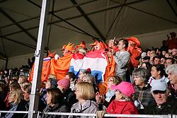 Supporters<br /> European Championship Dressage Windsor 2009<br /> Houtzager Marc (NED) - Opium VS