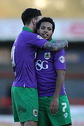 Bristol City's Korey Smith and Bristol City's Marlon Pack - Photo mandatory by-line: Dougie Allward/JMP - Mobile: 07966 386802 - 07/03/2015 - SPORT - Football - Crawley - Broadfield Stadium - Crawley Town v Bristol City - Sky Bet League One