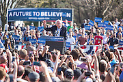 "Brooklyn, NY - 17 April 2016. Vermont Senator Bernie Sanders giving an impassioned speech at the rally. Sanders, who is running as a Democrat in the U.S. Presidential primary elections, held a campaign ""get out the  vote"" rally in Brooklyn's Prospect Park."