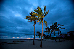 October 7, 2016 - Florida, U.S. - Cloudy with light wind on Riviera Beach at dawn after the passing of Hurricane Matthew  Friday, October 7, 2016. (Credit Image: © Lannis Waters/The Palm Beach Post via ZUMA Wire)