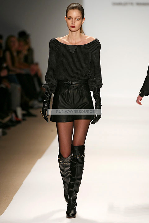 Mathilde Frachon wearing the Charlotte Ronson Fall 2009 Collection