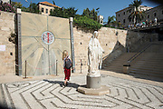 Israel, Nazareth, the garden of the Basilica of the Annunciation, Statue of the Madonna