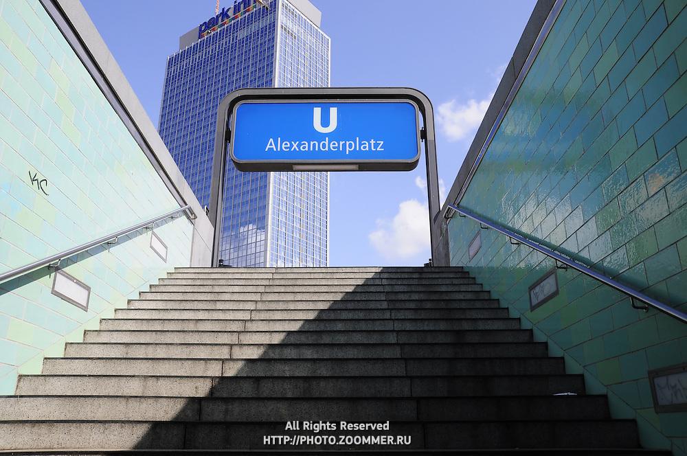 Berlin U-Bahn subway sign Alexanderplatz