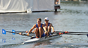 Henley, Great Britain. USA M2X. B ..Sam Frycke-Cunningham  and Mike Nucci .Malta BC.  Doubles Sculls  Challenge Cup. Henley Royal Regatta. River Thames Henley Reach.  Thursday   30/06/2011  [Mandatory Credit Peter Spurrie r/ Intersport Images] 2011 Henley Royal Regatta. HOT. Great Britain . HRR