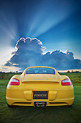 2006 Porsche Cayman S, photographed on the golf course during the Florida Winefest in Sarasota, Florida.