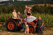 The Grand Cru Estates team, Laurent & Danielle Montalieu, Steve & Marian Bailey, Tony Rynders, Philippe Boulot & his dog